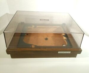 GARRARD 640S WOOD BASE & DUSTCOVER GREAT CONDITION! TURNTABLE PARTS OR REPAIR