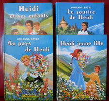 Heidi - Lot de 4 livres (Johanna Spyri - Flammarion 1958-1960)