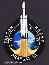 ArabSat-6A - SPACEX ORIGINAL - FALCON HEAVY Launch - SATELLITE Mission PATCH