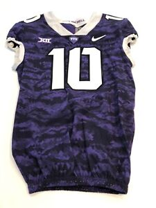 Game Worn Used Nike TCU Horned Frogs Football Jersey Size 38 #10