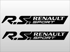 2 x RENAULT Sport clio cup megane Decal Stickers R.S
