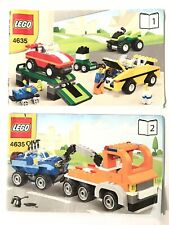 Lego Vehicles Creator 4635 Tow Truck Cars Jeep Instructions ONLY NO Box/LEGO