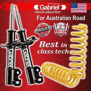 Front Gabriel Ultra Strut Shocks + STD King Springs for Ford Fairlane NF NL 6Cyl