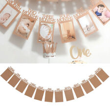 12pcs Kids 1st Birthday Photo Frame Shower Bunting Gifts Home Banner Party Decor