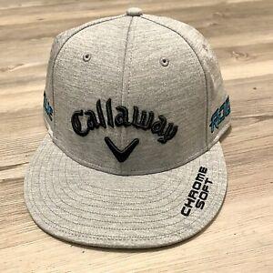 Callaway SnapBack Cap Embroidered 3D Logo Chrome Soft Rogue Light Grey Golf Hat