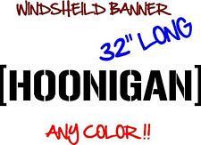 HOONIGAN Banner Windshield 32 inch Decal vinyl sticker JDM Ken Block drift HOON