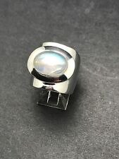 GENUINE RAINBOW MOONSTONE RING 925 STERLING SILVER Size 6 FAST FREE SHIPPING!!