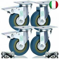 4 x RUOTA IN PLASTICA ruolo 100 mm trasporto ruolo dispositivi di trasporto ruolo ruote pivotanti a