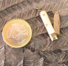 Mini couteau de poche Canif miniature Horn handle knife chatelaine penknife
