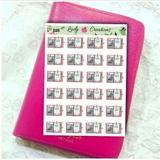 025B | PLANNER READY Diary Journal Planning HOMEMADE Stickers Plan with me