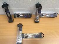 JOHN LEWIS FINIAL 28mm BLACK STEEL CHROME CURTAIN POLE NEW RRP £30 PAIR