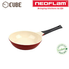 [NEOFLAM]ECOLON Coating Cube 20cm Fry Pan Deep Red Non-stick Natural Coating