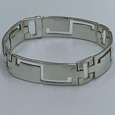 Heavy Solid Sterling Silver 925 Segmented Bracelet #890
