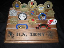 Military Challenge Coin Holder/Display 8x10, Army Seal