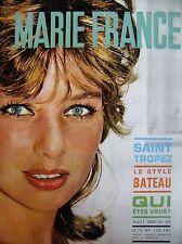 MARIE-FRANCE N° 54 ANNETTE VADIM SAINT-TROPEZ LE STYLE BATEAU MODE 1960