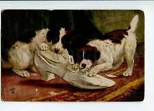 3016164 Puppies Jack Russell Terrier w/ Shoe Vintage Tuck Pc