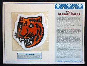 1927 DETROIT TIGERS ~ Willabee & Ward LOST TREASURES OF BASEBALL TEAM LOGO PATCH