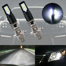 2x H1 6000K Super Bright White 6000LM DRL LED Headlight Bulb Kit High Beam