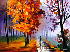 """Lilac Fog  —  Oil Painting On Canvas By Leonid Afremov. Size: 40""""x30"""""""