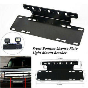 Car Front Bumper License Plate Mount Bracket Holder for Jeep Lamp LED Light Bar