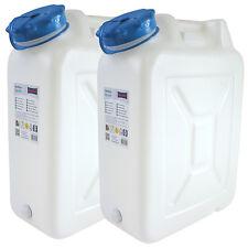 2x Weithals-Kanister 22 Liter PRO 2er Set Lebensmittelkanister Wasserkanister L