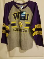 NCAA Western Illinois T-Shirt Leathernecks Long Sleeve Size L10/12 G10/12 NEW