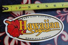 New listing Hawaiian Style Kama'Aina Clothing Honululu Lei Vintage Surfing Decal Sticker