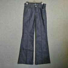 7 For All Mankind Ginger Wide Leg Womens Jeans  Size 28 L34 Dark Wash