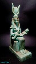 Isis Nursing Horus Statuette Royal Ancient Egypt Antiquity Rare Large Sculpture