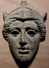Roman Greek God Face Theater Mask Decor Dionysus Bacchus Apollo Bronze Copper