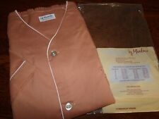 Vintage NOS Mens Pajamas by Marlowe Short Sleeve Knee Length Brown Size Lg *C*