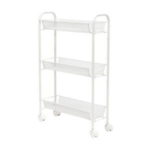 Honeycando CRT-08582 Honey-can-do Crt-08582 Slim Rolling Wire Cart With 3
