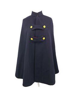 Vintage Hospital Clothing Co Nurse Cape Blue Red Wool 1940s