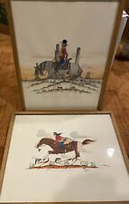 Vic Clark Watercolor Paintings American Indian MCM Contemporary