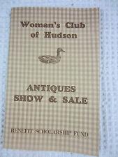 1977 Woman's Club of Hudson Ohio Antiques Show & Sale program