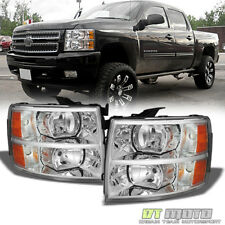 2007-2013 Chevy Silverado1500 2500 3500 Crystal Headlights Headlamps Left+Right