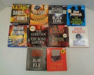 Lot of 10 Audio Books on CD Mystery Gardner Gerritsen Connelly Baldacci Jance F