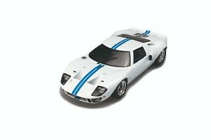 1/18 Solido Ford GT40 Whidebody White Blue Stripes cochesaescala S1803002