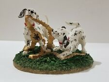 Anheuser Bush Budweiser Clydesdale Collection Dalmation Puppies Figurine 2001