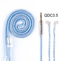 1pc HIFIHEAR MMCX/2Pin/QDC 16 Core Braided Silver Plated Earphone Balanced Cable