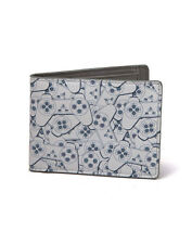 OFFICIAL PLAYSTATION - PSONE CONTROLLER TILED PRINT BI-FOLD WALLET (BRAND NEW)