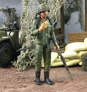 "Custom 21st Century Toys Ultimate XD Soldier Vietnam US Radioman 1:18 3.75"""