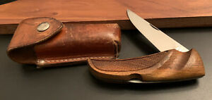🔥 Beautiful Vintage Gerber USA First Folding Hunter Checkered Walnut Knife