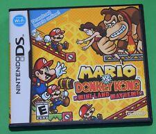 Mario vs. Donkey Kong: Mini-Land Mayhem (Nintendo DS, 2010) Complete CIB