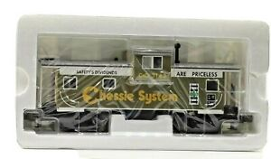 Vintage MTH Premier Extended Vision Chessie Illuminated Caboose in Original Box