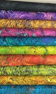 Poured Color Half Yard Fabric Bundle - Paula Nadelstern - Benartex