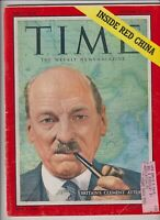 Time Magazine Britain's Clement Attlee September 20, 1954 111919nonr