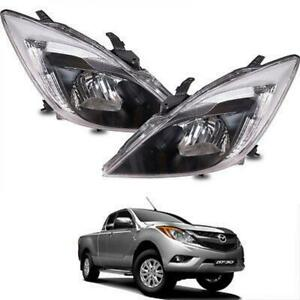 Fit 2012-2016 Mazda BT50 BT-50 Pro Ute Pickup Facelift Head Lamp Lights Pair
