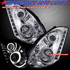 CCFL HALO PROJECTOR HEADLIGHTS HID TYPE w/ LED CHR FOR 03-05 INFINITI G35 COUPE