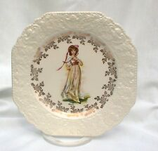 LORD NELSON POTTERY PINKY LAWRENCE GOLD EMBOSSED PLATES ANTIQUE